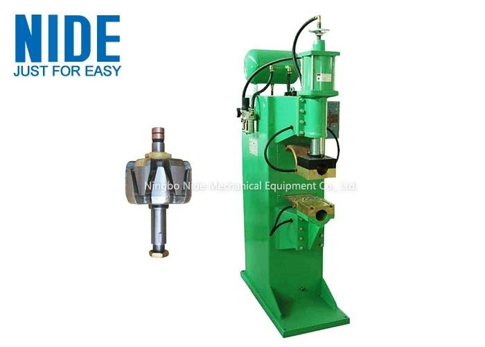 Wind Leaf Armature Spot Welding Equipment 2 Working Stations Plc Programming