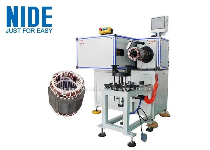 Pump Motor High Automation Stator Winding Lacing Machine Single Working Station